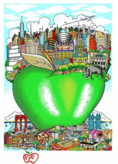 Charles Fazzino, 'Nyc's Little green apple', 2015