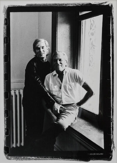 Gerard Malanga, 'Andy Warhol gropes Parker Tyler on his first visit to the Factory', 1969
