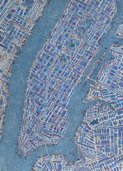 Barbara Macfarlane, 'Diagonal Manhattan, Blue Violet', 2019