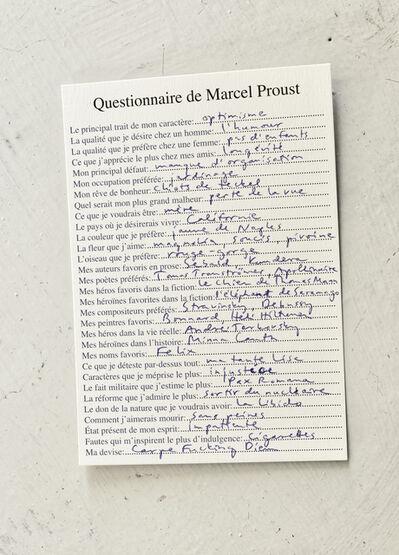 Elina Brotherus, 'Questionnaire de Marcel Proust', 2016