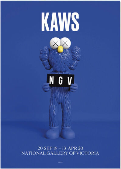 KAWS, 'National Gallery of Victoria Poster BFF Blue', 2019