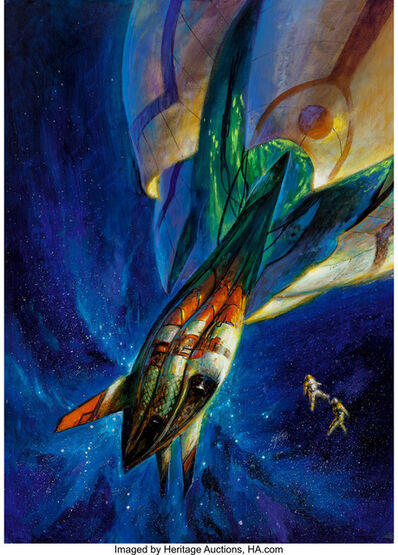 Bob Eggleton, 'Isaac Asimov's Science Fiction cover, July 1998'