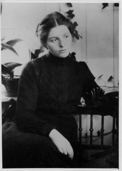 'Paula Modersohn-Becker on her home veranda', c. 1901