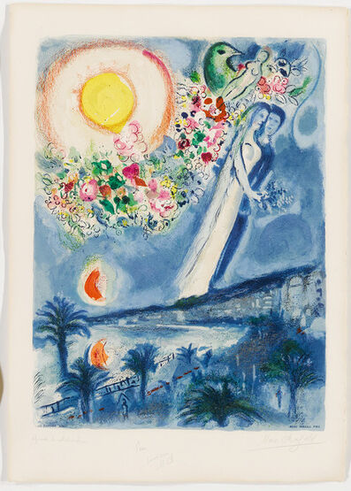 Charles Sorlier after Marc Chagall, 'Fiancés in the Sky at Nice', 1967