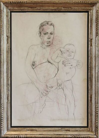 Jenny Saville, 'Mother and child study ii', 2009