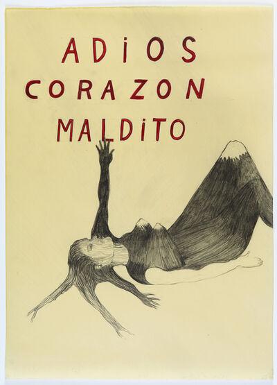 Sandra Vásquez de la Horra, 'Adios corazon maldito ', 2012