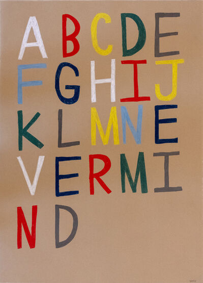 Mick Burson, 'apathetic alphabet.', 2019
