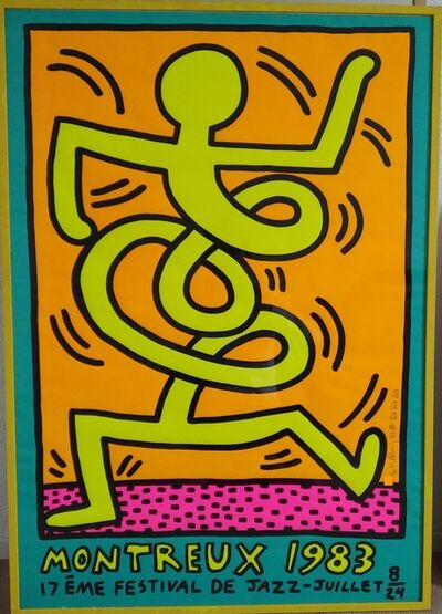 """Keith Haring, '""""Montreux Jazz Festival"""" signed and numbered edition print', 1983"""