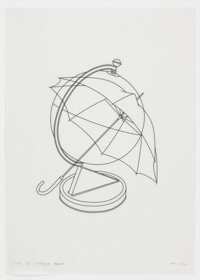 Michael Craig-Martin, 'Study for Broadgate project (globe & umbrella)', 1990