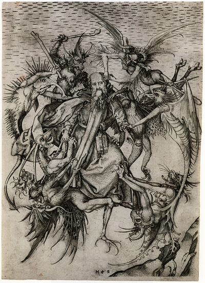 Martin Schongauer, 'The Tribulations of St. Anthony', after 1470