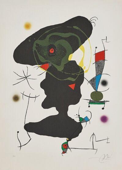 Joan Miró, 'Oda a Joan Miro' PLATE V', 1973