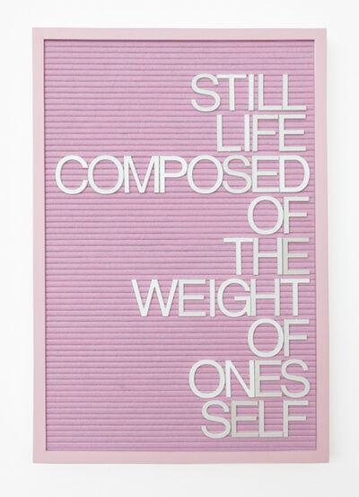 Maynard Monrow, 'Untitled / Weight', 2017