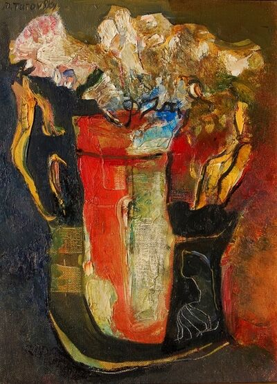 Mikhail Turovsky, 'Flowers in a Red Vase', ca. 2005