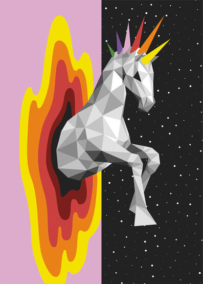 Okuda San Miguel, 'Jumping to Another Dimension', 2018
