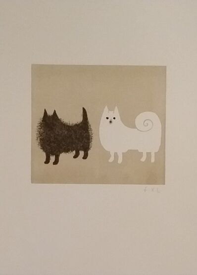 Claude & François-Xavier Lalanne, 'Two dogs, 2004 - Hand signed etching', 2004