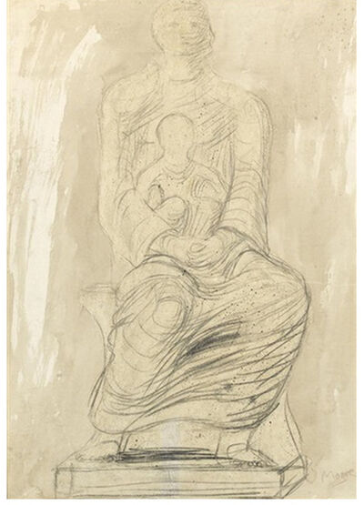 Henry Moore, 'Study of Madonna and Child', 1943