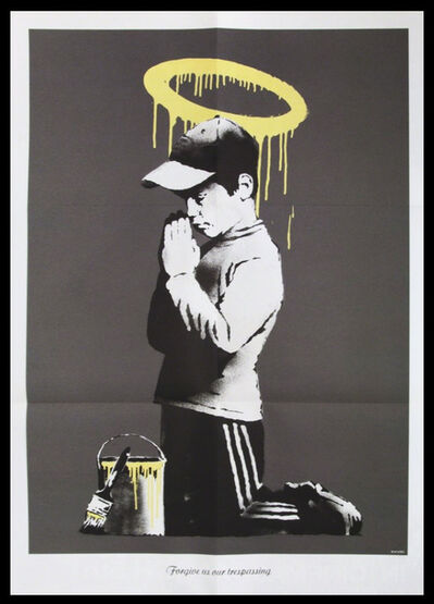 "Banksy, '""FORGIVE US OUR TRESPASSING"" ', 2010"
