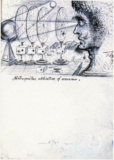 Salvador Dalí, 'Retrospective Utilisation of Aronariaum', 1946