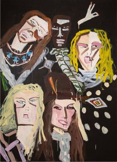 Katherine Bernhardt, 'Jaunel MacKenzie with friends', 2005