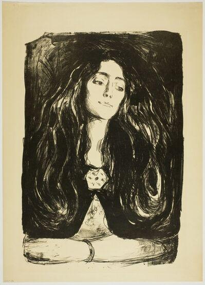 Edvard Munch, 'Brosjen. Eva Mudocci (The Brooch, Eva Mudocci)', 1915