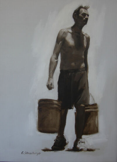 George Strasburger, 'Man Carrying Bucket', 2017