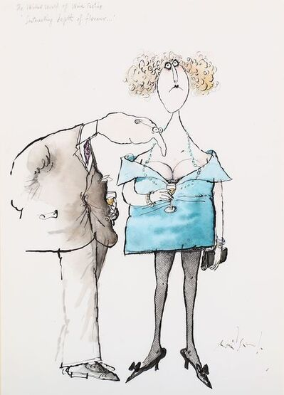 Ronald Searle, 'The wicked world of wine tasting'
