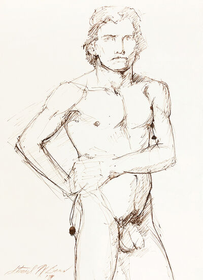 Mark Beard, 'Untitled (Male Nude with Hands on Waist)', 1974