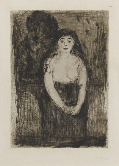 Edvard Munch, 'Modellstudie (Study of a Model)', 1894