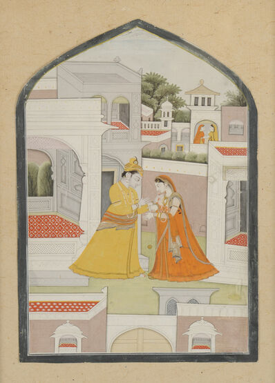 India, Kangra, 'Krishna and Radha playing Yo-Yo', 1800