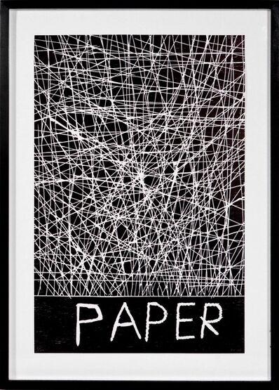 David Shrigley, 'David Shrigley, Paper, Woodcut, 2005', 2005