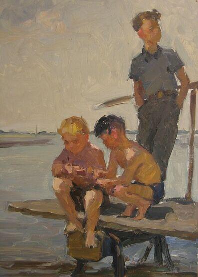 Nadezhda Eliseevna Chernikova, 'Fishing', 1958