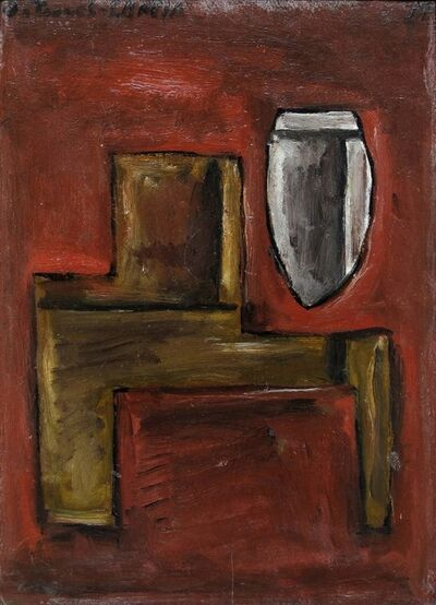 Joaquín Torres-García, 'Deux structures sur fond rouge', 1931