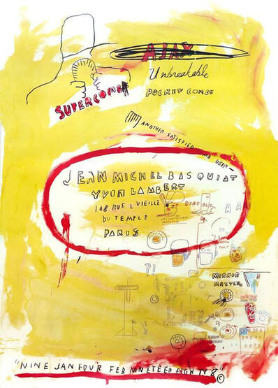 Jean-Michel Basquiat, 'Supercomb', 1988