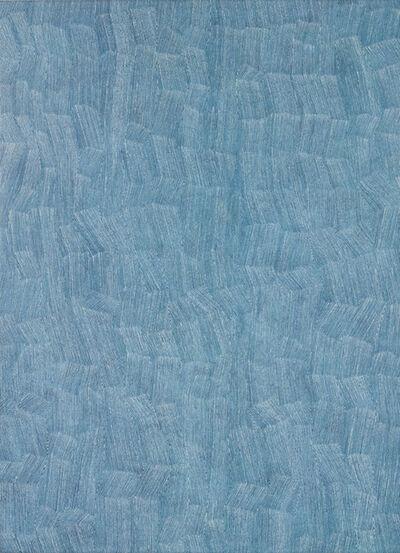 Karl Wiebke, '59-18 White on Light Blue', 2018
