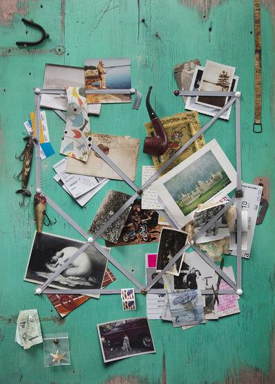 Vik Muniz, 'Handmade: Letter rack (Acqua and grey ribbon)', 2017