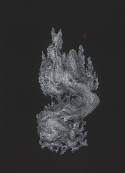 Li Chen, '银黑卡 197.13-1 Silver and Black on Cardboard 197.13-1', 2019