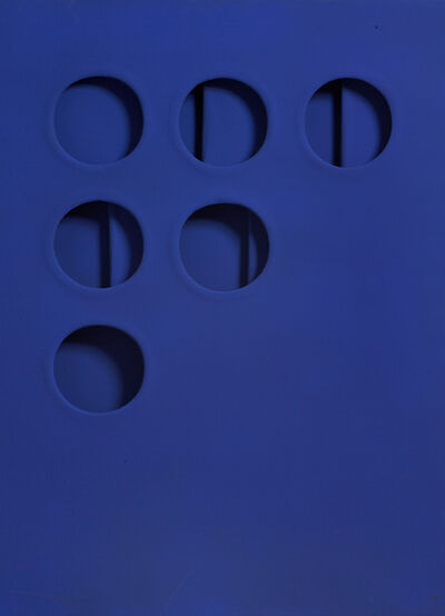 Paolo Scheggi, 'Intersuperficie curva dal blu (Curved Intersurface from Blue)', 1966
