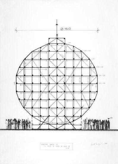 """Marta Minujín, 'Estructura tubular de """"la pelota de futbol de dulce de leche""""', 1981"""