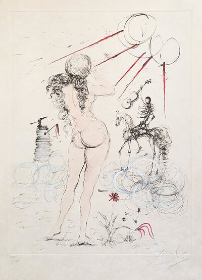 Salvador Dalí, 'Woman, Horse and Death', 1968