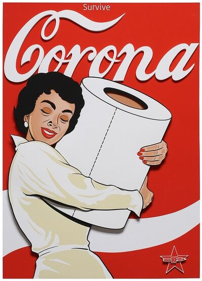 Rf Art, 'Corona (Street Art, Pop Art, Coke, Coca Cola, Pin Up, Toilet Paper)', 2021