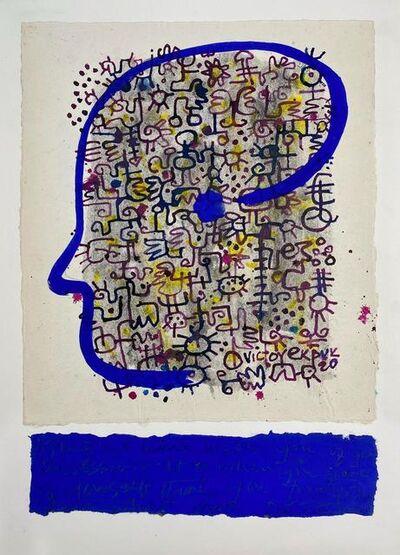 Victor Ekpuk, 'Meditation on Gibran', 2020