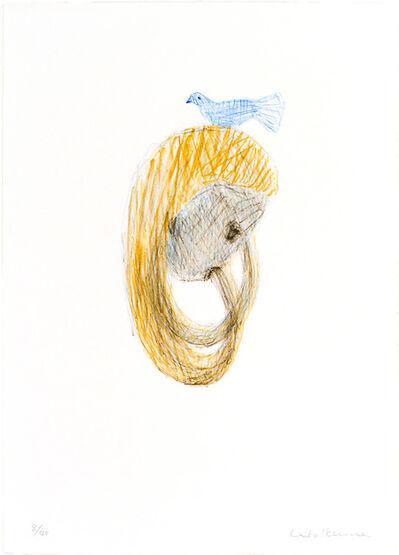 Leiko Ikemura, 'Blauer Vogel auf dem Kopf', 1997