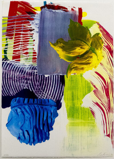 Pia Fries, 'Siebdruck D', 1999