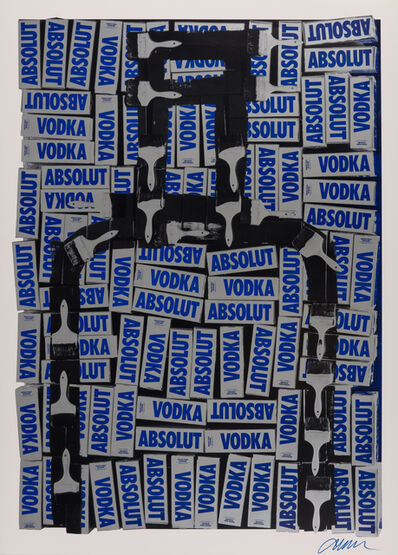 Arman, 'Untitled (Absolut)', 1990