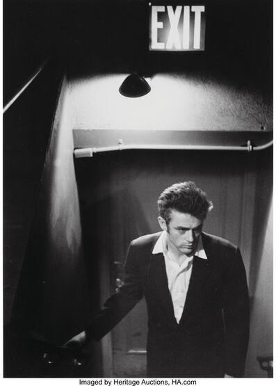 Roy Schatt, 'James Dean Under Exit Sign', circa 1954