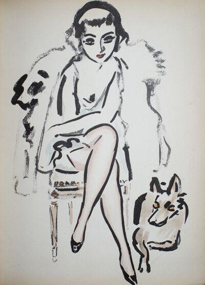 Kees van Dongen, 'Jeune femme au chien', 1925