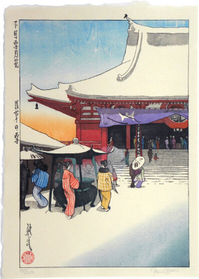 Paul Binnie, 'Snow, Moon and Flowers in Downtown Tokyo: Snow at Asakusa ', ca. 1998