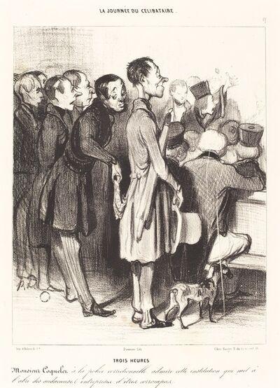 Honoré Daumier, 'Trois heures', 1839