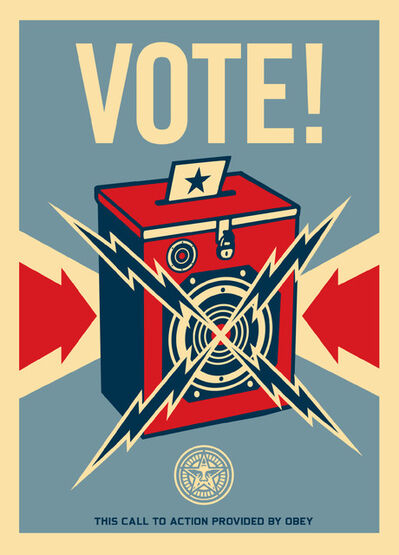 Shepard Fairey, 'Vote!'