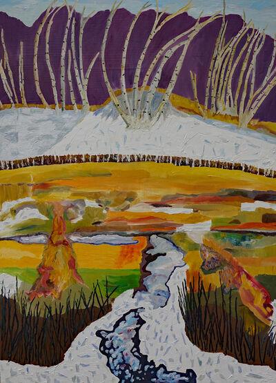 Yvonne Troxell Lamothe, 'Black's Creek, First Snow', 2020